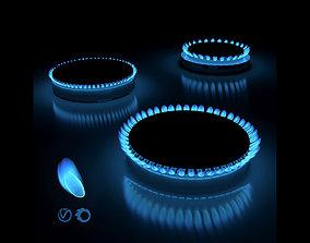 Gas hob flame 3D