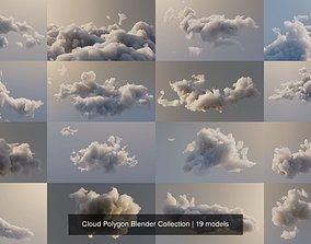 3D Clouds Polygon Blender