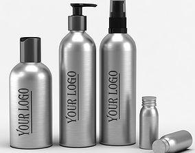 3D model Cosmetic Aluminum Bottles