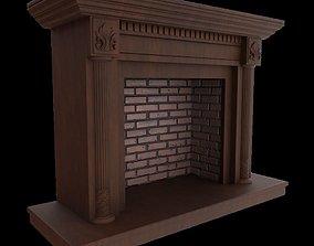 3D model VR / AR ready Fireplace Portal Heritage Leaf