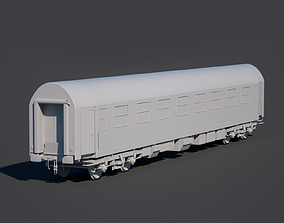 3D Passenger train car