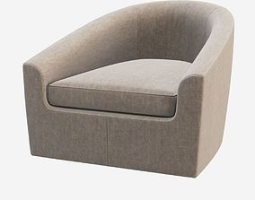 Minotti Quinn Armchair 3D model arm-chair