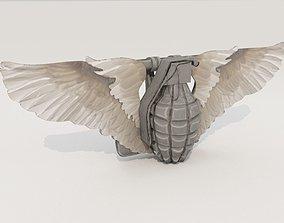 3D model Cool Hand Grenade Belt Buckle