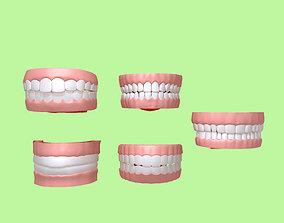 Human Mouth 03 Teeth Cartoon 3D model