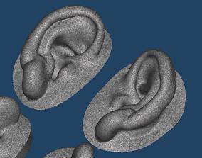 Natural human ear anatomy 03 3D printable model