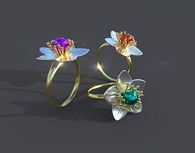 rings apricot blossom 3D printable model