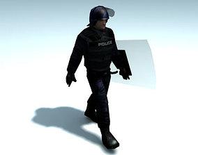 SWAT Police Officer 3D model