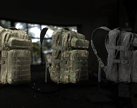 Tactical backpack 3 Colors 3D asset