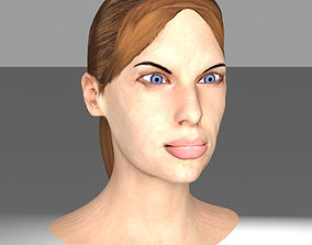 Textured Printable Female Head