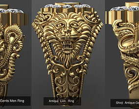 Antique Ring Collection 3D