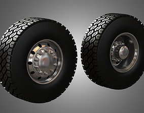 Truck Tires and Wheels-T04 3D model