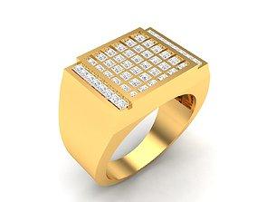 sterling Men groom solitaire ring 3dm render detail