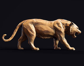 kitty 3D printable model Stylized Tiger statuette