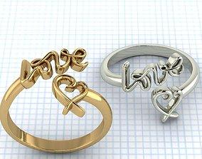 Love Ring 3D printable model romance