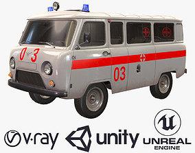 3D asset realtime UAZ 452 2206 Ambulance