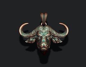 Buffalo pendant animal 3D printable model