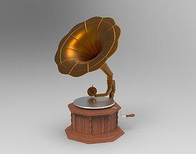 music 3D model Gramophone