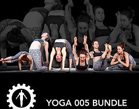 adult Yoga 005 Bundle 3D model