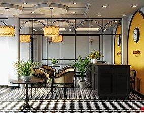 Interior reception design 3D asset