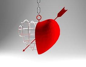 Arrow Heart 3D print model