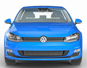 VW Golf VII 7 3D modern