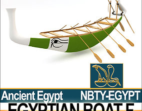 Ancient Egypt Boat F 3D model