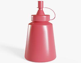 3D model Small Ketchup Bottle