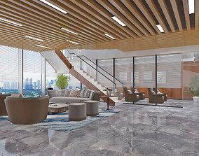 Modern Office Reception Area 3D