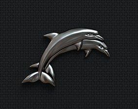 3D print model Dolphins hug couple
