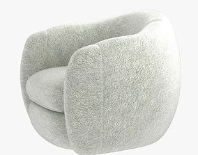 jean royere bear chair 3D model