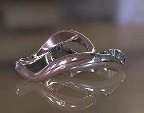 3D print model Wedding rings wave