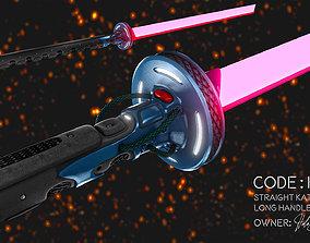 3D model Code Hex - SciFi Katana