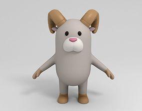 Cartoon Ram 3D model