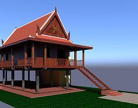 khmer 3D Wood House