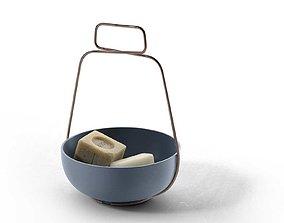 3D model Savon De Marseille Soaps with Muselet Bowl