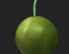 Coconut Coconut milk Drinks Fruit Juice 3D