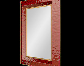 3D model Textured Red Murano Glass Mirror