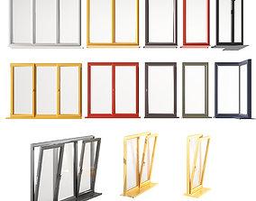 3D model Aluminum windows