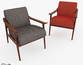 3D Mid-Century Show Wood Upholstered Chair by West Elm