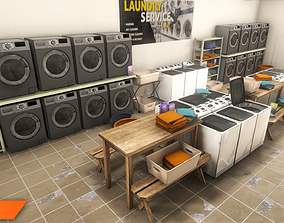 Laundry - interior and props 3D model