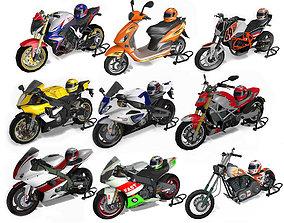 Motorbikes pack 3D