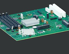 3D model computer motherboard