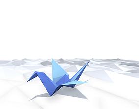 3D asset Origami Crane