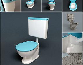 3D model HQ Toilet