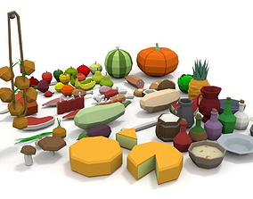 LowPoly Food Pack 3D asset