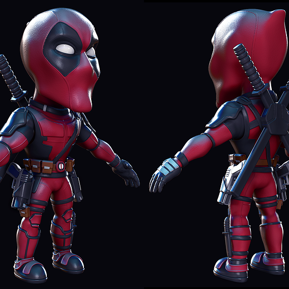Deadpool chibi fan art