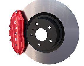 3D asset Tesla Ventilated Brake System