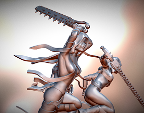 Chain Sword Punisher Nuns 3D print model