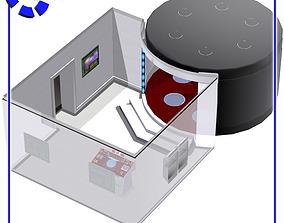Teleporter Room 2 for Poser 3D model