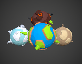 3D asset Various Planets